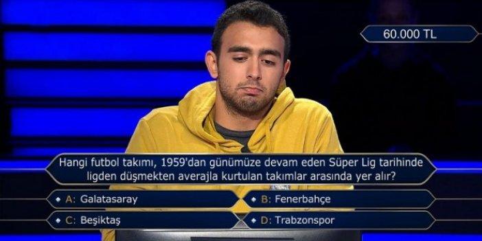 Kim Milyoner Olmak İster'e damga vuran soru. Verdiği cevap herkesi şaşırttı