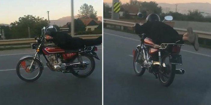 Ehliyetsiz sürücü motosikletiyle tehlike saçtı, rekor ceza yedi