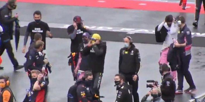 Formula 1 pilotları kaçacak yer aradı. O görüntüler saniye saniye kaydedildi
