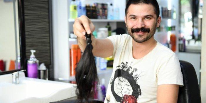 2 yıldır uzattığı saçlarını bağışladı