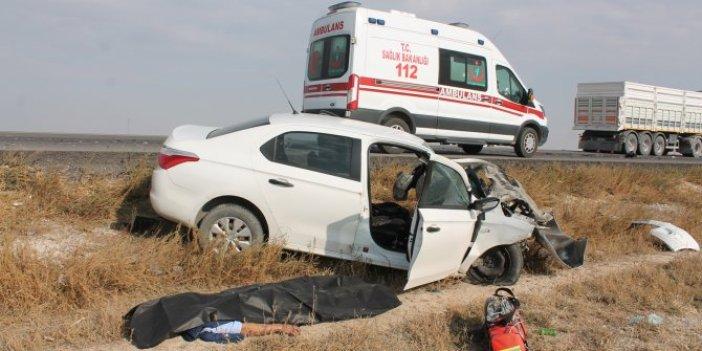 Aksaray'da otomobil ve TIR çarpıştı:1 ölü
