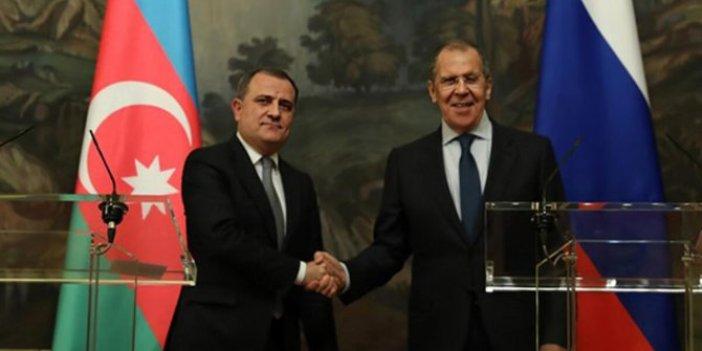 Bayramov ile Lavrov Dağlık Karabağ'ı görüştü