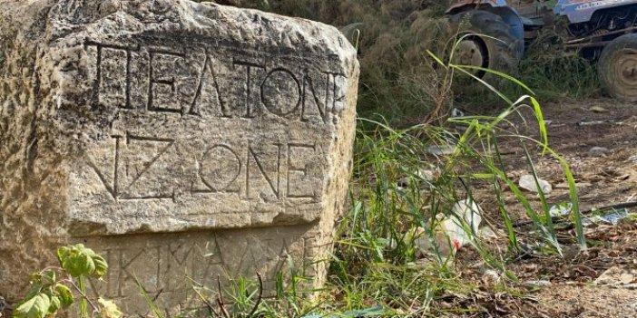 Köy meydanındaki taş müzeyi alarma geçirdi. Köylüler senelerdir kullanıyordu