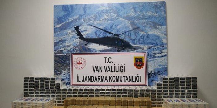 Van Başkale'deeroin ve kaçak sigara operasyonu