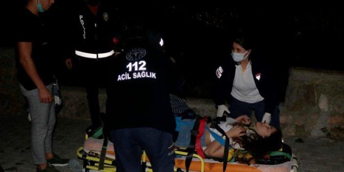Genç kadın seyir tepesinden yuvarlandı