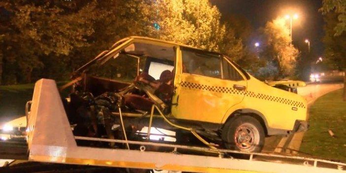 Makas terörü otomobili ikiye böldü