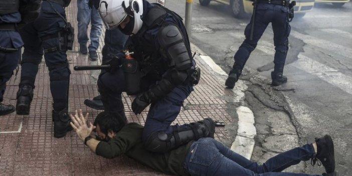 Yunanistan'da '17 Kasım' protestolarına polis müdahalesi