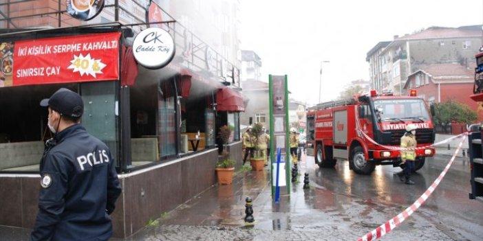 Ataşehir'de restoranda yangın