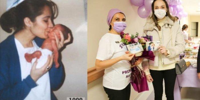 21 yıl sonra hemşiresiyle buluştu