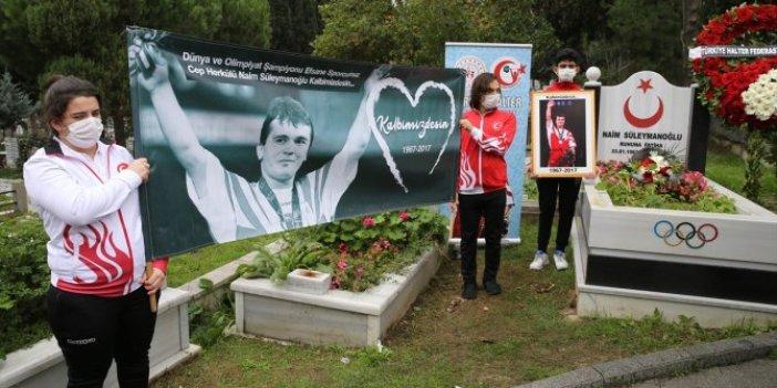 Türk sporunun efsane ismi Naim Süleymanoğlu mezarı başında anıldı