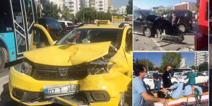 Ehliyetine el konulan sürücü dehşet saçtı. 8 araç karıştı, can pazarı yaşandı