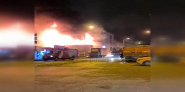 Yenibosna'da önce patlama sonra yangın