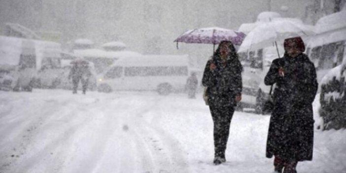 Meteoroloji il il uyardı. Kar ve yağmur birlikte geliyor