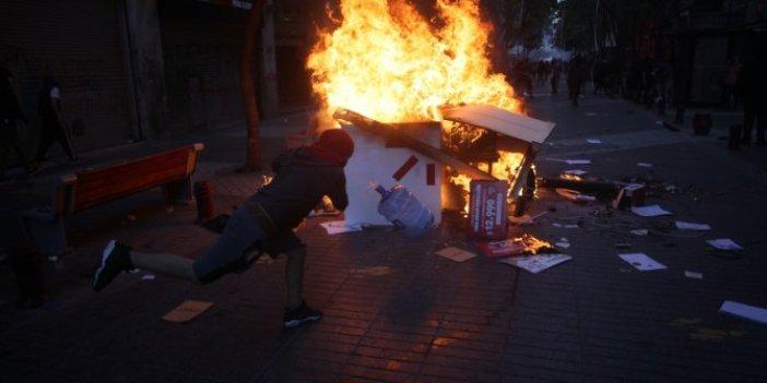 Şili'de gösteriler hız kesmeden devam ediyor