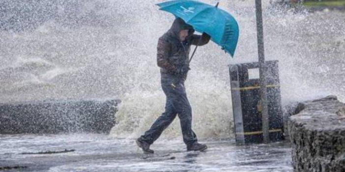 Meteoroloji 8 ili tek tek uyardı. Fırtına ve şiddetli yağmur geliyor