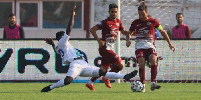 Nefes kesen Hatayspor Rizespor maçında gülen çıkmadı