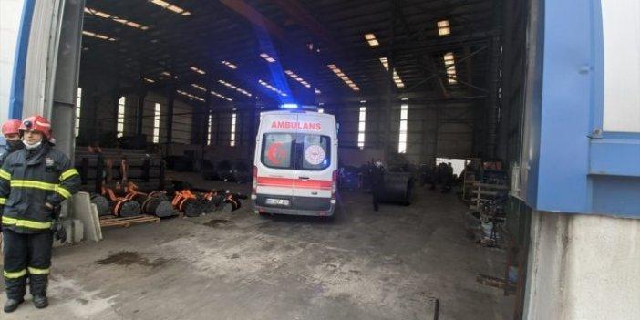 Kocaeli'ndeki fabrika korkunç kaza. 30 tonluk demirin altında kaldı