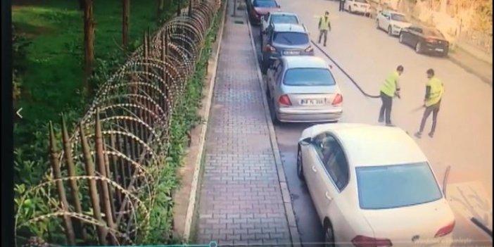 Sarı yelek giyerek Bakırköy'de güpegündüz soygun yaptılar. sokaktaki herkes de işçiler çalışıyor sanıp seyretti
