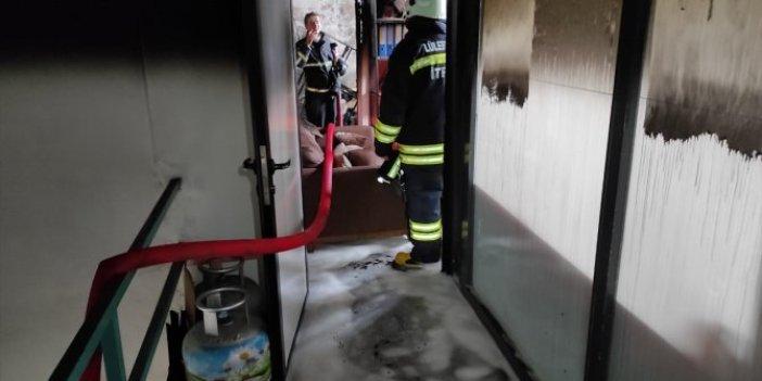 Metal atölyesinde korkutan yangın