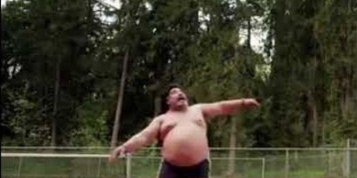 Maradona'nın bu halini görenler hüngür hüngür ağlamıştı. Bu haliyle tenis topuyla bakın nasıl oynamıştı