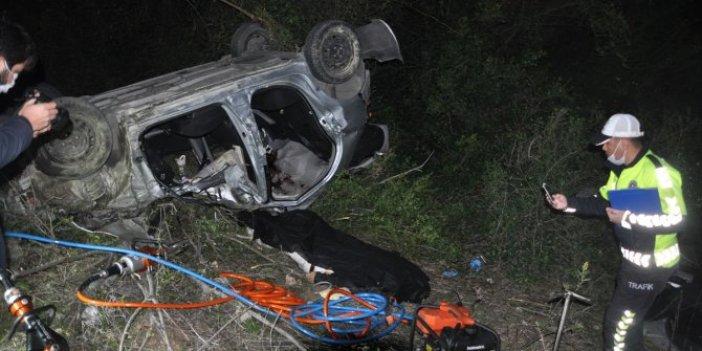 Aydın'da takla atan otomobilin sürücüsü hayatını kaybetti