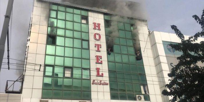 Şanlıurfa'da korkutan otel yangını