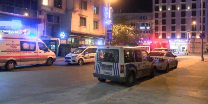 Şişli'deki ünlü otelde şüpheli olay. Otel camından düşen kadını tente kurtardı