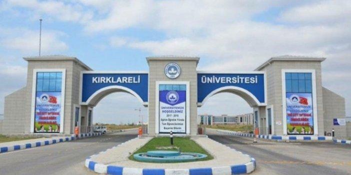Kırklareli Üniversitesi'nden mahremiyet açıklaması