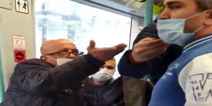 Tramvayda maske kavgası: Sen neyin peşindesin