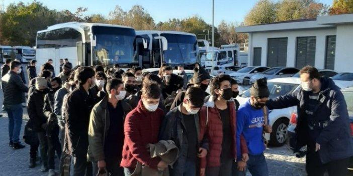 2 otobüs dolusu göçmen yakalandı