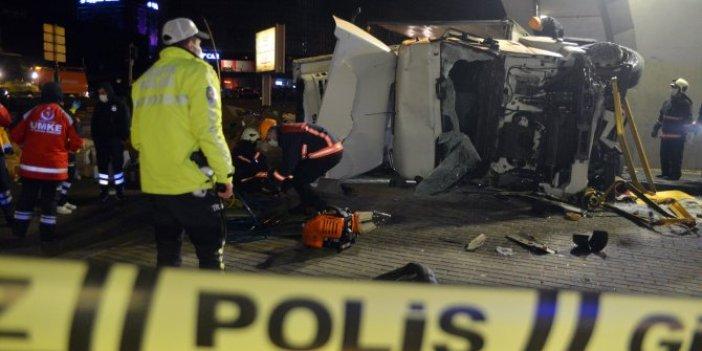 Başkentte feci kaza. Kullandığı TIR'ın altında kaldı