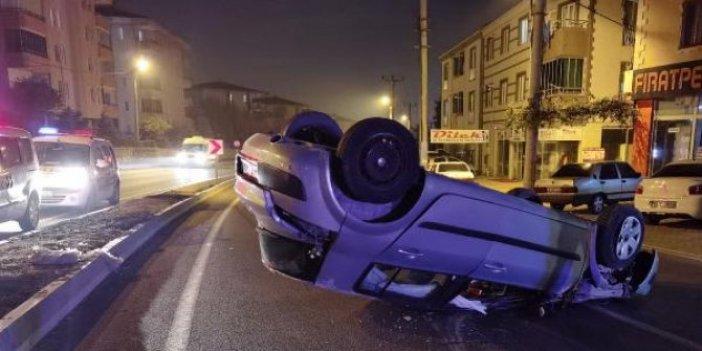 50 metre sürüklenen araçtan sapasağlam çıktı