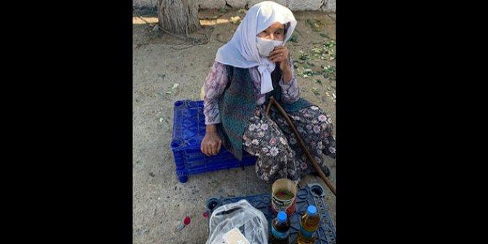 87 yaşındaki nine bunları satıp eve ekmek götürmek için pazara çıktı. Garibanlık diye bir virüs var koronadan da beter