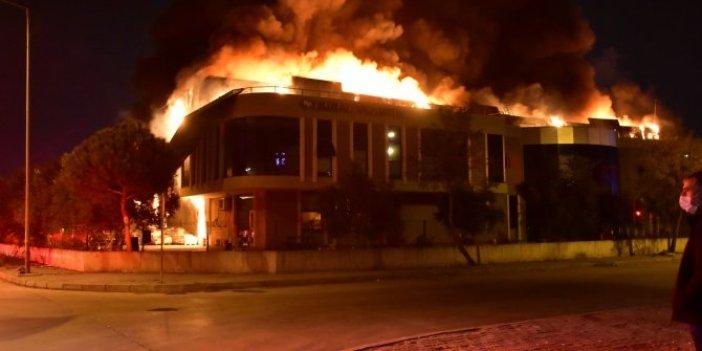 İzmir Organize Sanayi Bölgesinde yangın