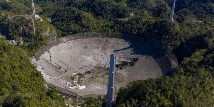Porto Riko'daki 57 yıllık Arecibo Gözlemevi çöktü