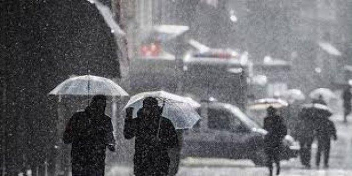 Meteoroloji illeri tek tek sayıp uyardı, sağanak yağış ve kar geliyor