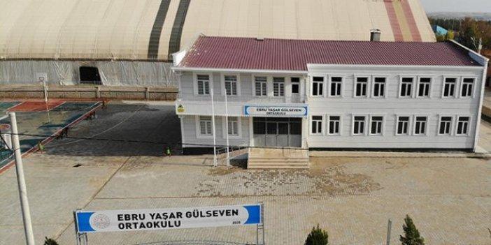 Necat Gülseven'in eşi Ebru Yaşar adına yaptırdığı okul tamamlandı