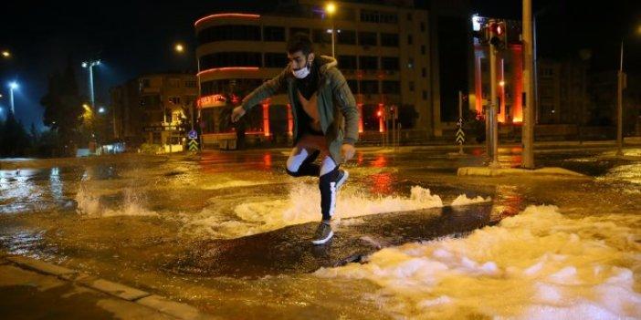 Buca sokaklarını su bastı