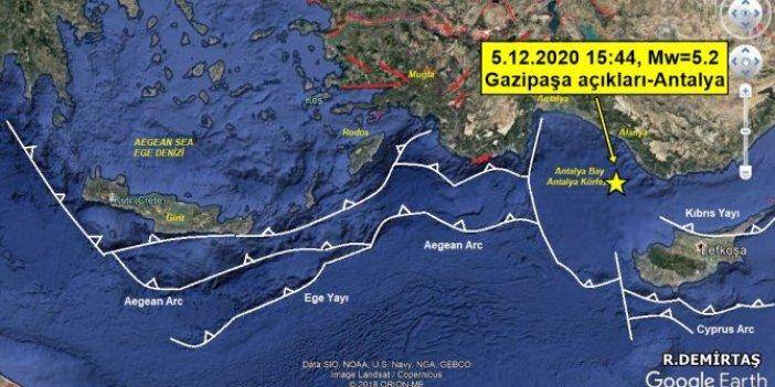 Dr. Ramazan Demirtaş Antalya depreminin yerini noktasına kadar açıkladı