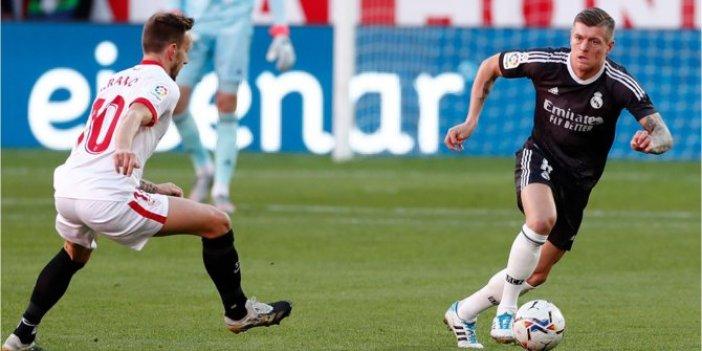 Real Madrid, Sevilla deplasmanından mutlu döndü