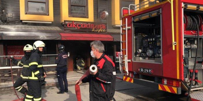 Samsun'da lokantada yangın