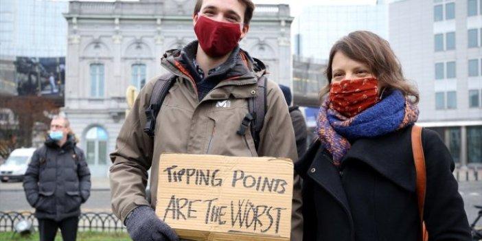 Brüksel'de iklim değişikliğine dikkat çekildi