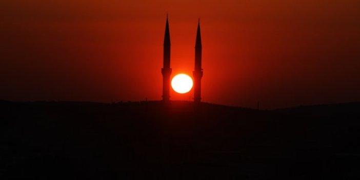 Kilis'te gün batımı sırasında müthiş görüntüler