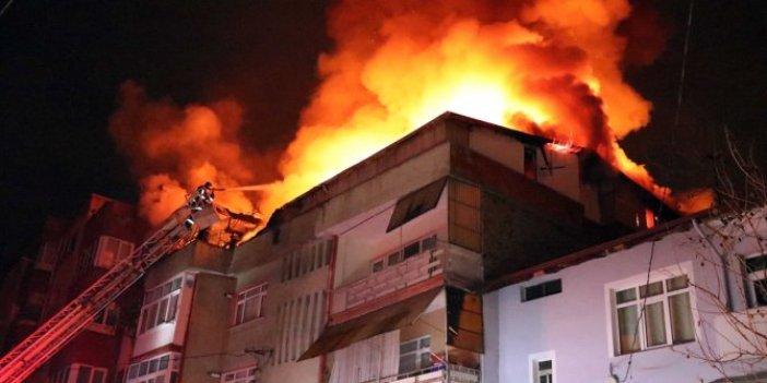 Yangını duyan can havliyle sokağa fırladı