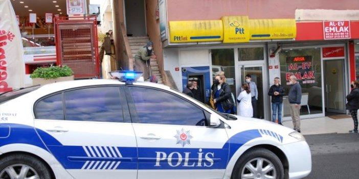 Ataşehir'deki PTT şubesinde soygun girişimi