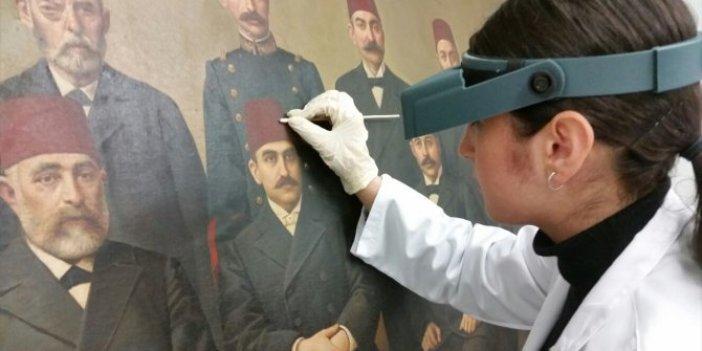 Tarihi tablonun restorasyonunda ilginç keşif
