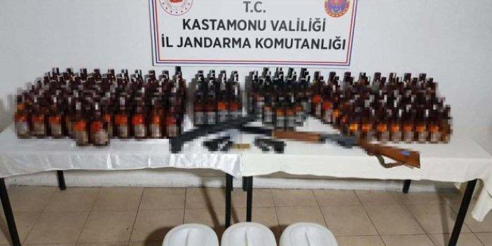Kastamonu'da otele kaçak içki baskını