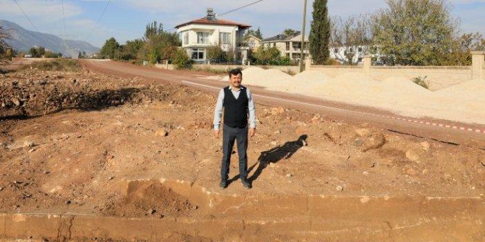 Antalya'da kepçenin darbesiyle bir anda ortaya çıktı. Alan koruma altına alındı