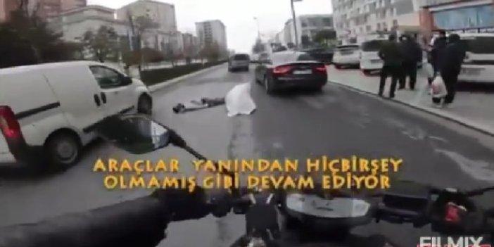 Arabalar yanından vızır vızır geçti, vatandaşlar durdu yalnızca izledi, bir kişi bile yardım etmedi