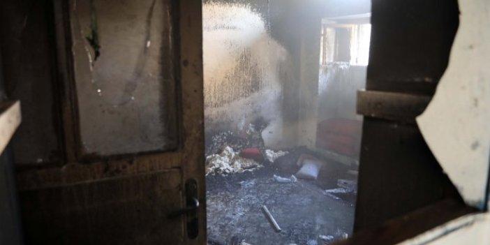 5 yaşındaki torunu evi yaktı. Dede Cedan feryat etti